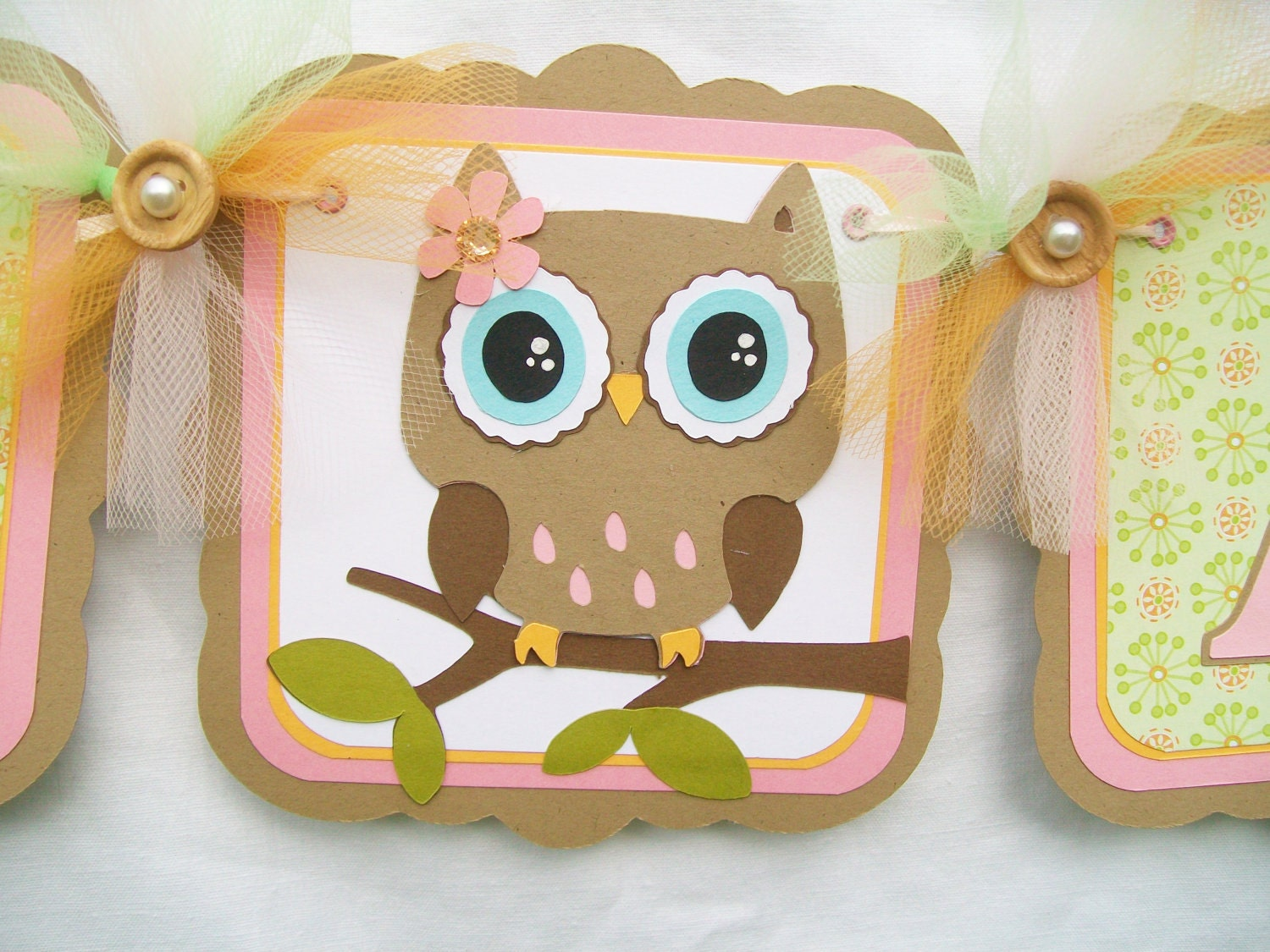 Items similar to It's A Girl Owl Banner - Owl Baby Shower Banner