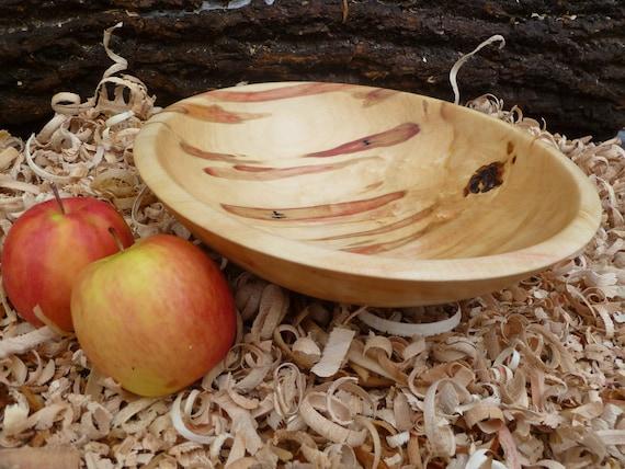 Box Elder Maple Wood Bowl. Salad Bowl Fuit Bowl Dough Bowl Red Bowl Hand Turned Wood Bowl Hand Turned Wood Bowl Carved Wood Bowl Wooden Bowl