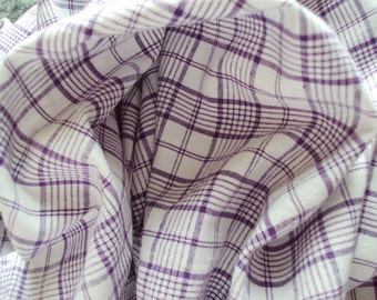 Yardage Vintage French Lilac Lavender Plaid Check Gingham Suitable for Patchwork Quilting Lavender Bags Feedsack Pillow