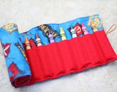 Pirate Crayon Roll - Ready to Ship