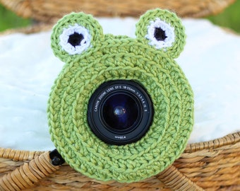 Frog Lens Buddy with Squeaker - Made To Order - Photography DSLR Lens Accessory