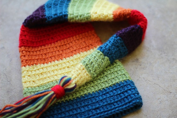 Rainbow Stocking Hat Photography Prop - Made to Order