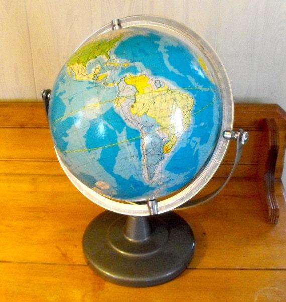 Vintage School Globe with a Twist - It's in Japanese