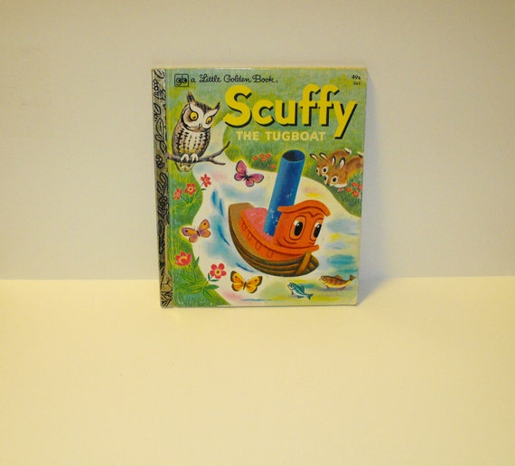 Little Golden Book Scuffy the Tugboat  illustrated by Tibor Gergely