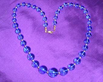 Sale Blue beads necklace