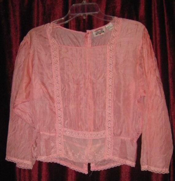 Vintage Silk Blouse Rose Pink