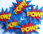 POW Superhero Felt Hairclip or Pin