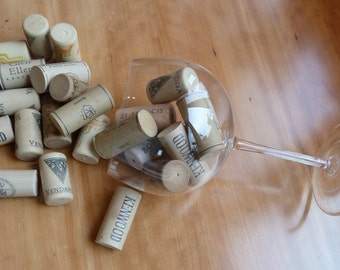 Wine Corks - 12 Synthetic Natural Colored