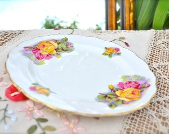 Romantic Roses Vintage Royal Kent Plate