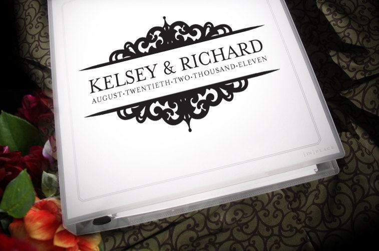 Wedding planning binder with customized by forevermorewedding for Diy wedding binder templates