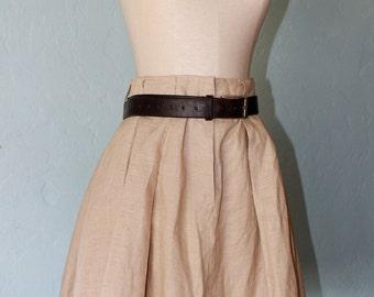 linen circle skirt