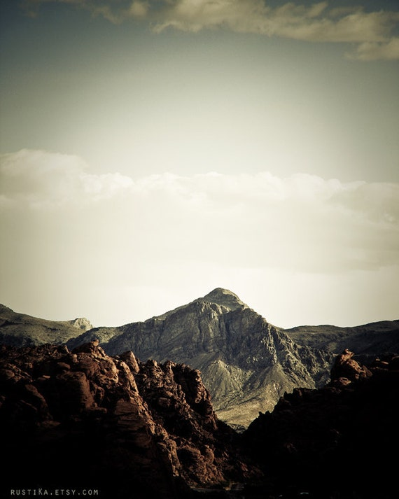 Rustic Mountain Landscape Photography / Neutral Muted Desaturated Fine Art Photography 11x14 IN STOCK