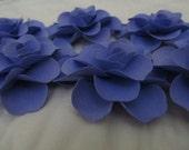 6 Handmade Purple Paper Scrapbook Roses