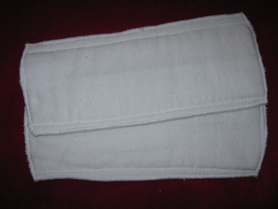 Set of 2 terrycloth inserts for pocket diaper.