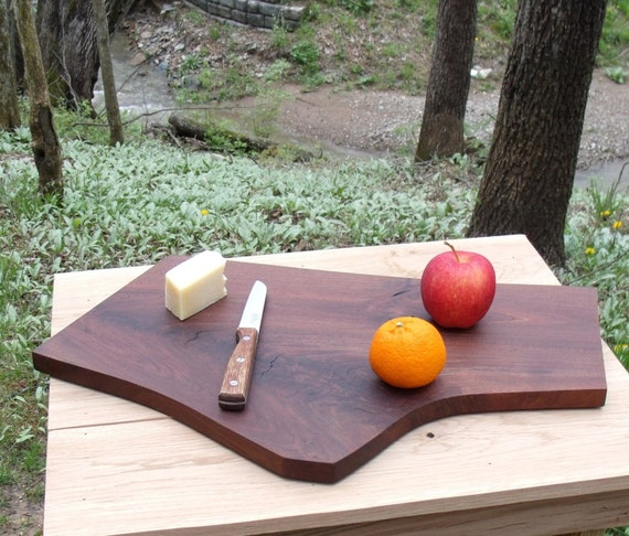 Exquisite Black Walnut Crotch Cutting Board / Serving Tray