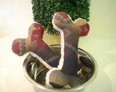 Plush Doggie Bone Toy with Squeaker