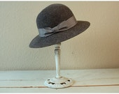 reserved//ash gray wool felt hat