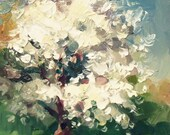 Wedding dress. Tree Painting. Original Oil Painting. Landscape. RESERVED for Donna Morris.