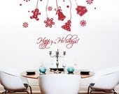 Holiday Ornaments Set - Removable Wall Vinyl Decal