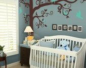 Wall decals, Big Giant Swirly Tree Decal - Nursery Wall Decal - Kids Removable Wall Decor