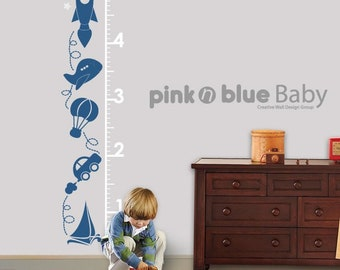 Higher and Higher Growth Chart : Nursery Kids Removable Wall Vinyl Decal Sticker