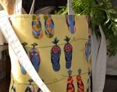 Sunny Flip-Flop Farmers Market Bag