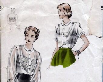 Bust 30-1940's Misses Blouse  Vogue 6286  Size 12