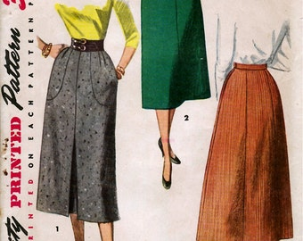 1950's Misses' Skirt  Simplicity 4413  Waist 26  Hip 35