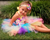 Tutu Butterfly Toddler Tutu Outfit Costume Set 3 pc (Tutu, Stylish Top, Headband)
