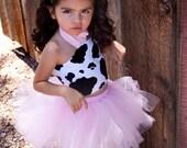 Tutu MooTu - Cow Pink Tutu Baby Toddler Outfit Costume Set 3 pc (Tutu, Stylish Top, Headband)