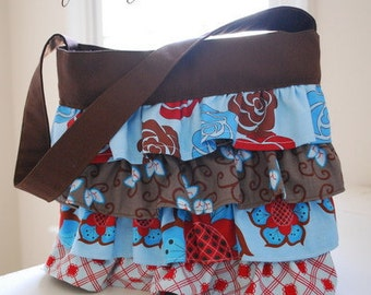 ruffled purse bag sewing pattern: The Layla Bag