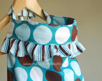 SEWING PATTERN: Designer Ruffled Nursing Cover for breastfeeding PDF Pattern