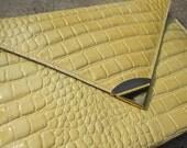 Creamy Pale Yellow Envelope Clutch