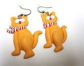 Christmas Kitties Earrings Winter Holiday Jewelry