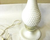 White Hobnail Lamp Table Lighting