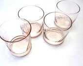 Vintage -  Blush Pink Tumblers Set of Four Drinking Glasses