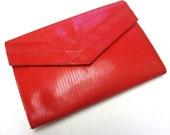 Lipstick Red Clutch 80s Clutch