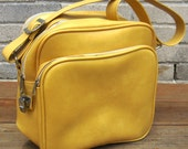 Travel Bag Golden Mustard Yellow Luggage Bag Carry On Overnighter