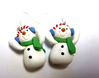 Snowman Earrings Holiday Cheer Christmas Jewelry