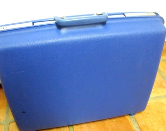 Samsonite Concord Royal Blue Suitcase Luggage Firm Sided