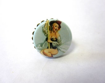 Pin up Ring Burlesque 50s  Adjustable Rockabilly Jewelry