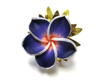 Purple Ring Floral Sweet Hibiscus Ring