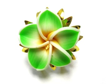 Lime Green Ring Floral Sweet Hibiscus Ring Flower