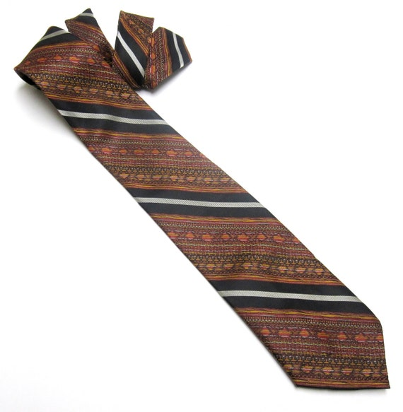 wembley necktie gray orange black tie