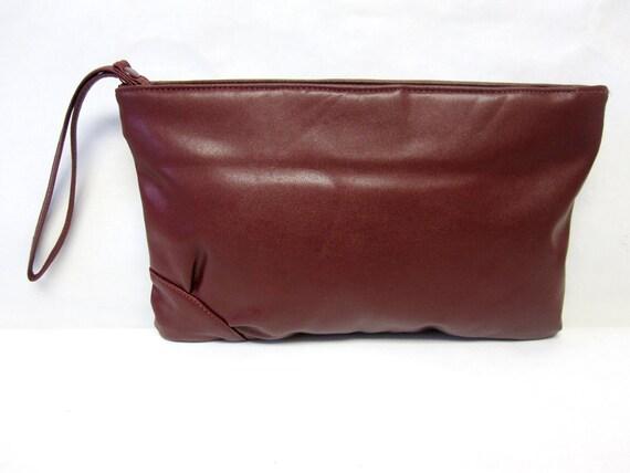 Brown Purse Handbag Wristlet Clutch