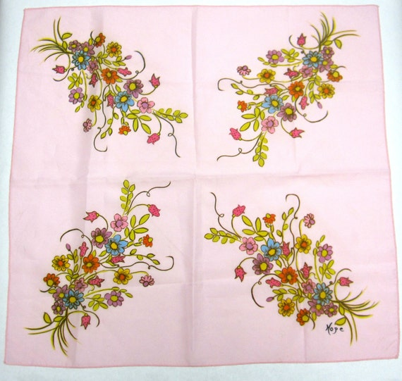 Scarf Pink Floral Oriental Hair Accessory