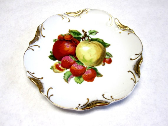 Norcrest Decorative Plate Fruit Apples Strawberry Wall Hanging