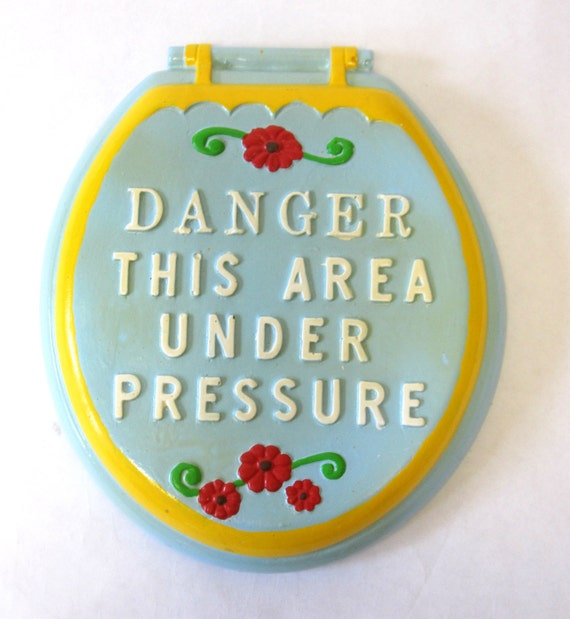 Funny Bathroom Sign Toilet Seat Vintage By Sweetie2sweetie