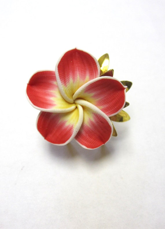 Red Ring Floral Sweet Hibiscus Ring