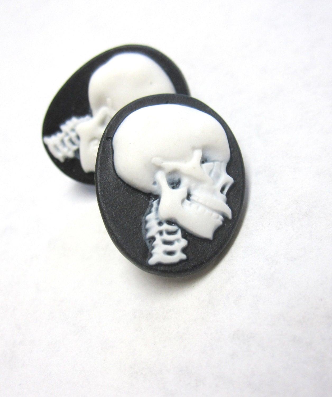 Day of the dead earrings sugar skull jewelry by for Day of the dead body jewelry